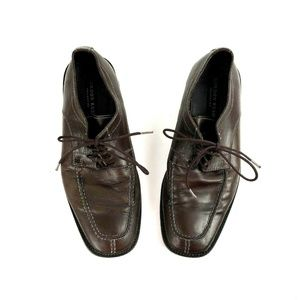 Gordon Rush Mens 9 Brown Leather Oxfords Shoes